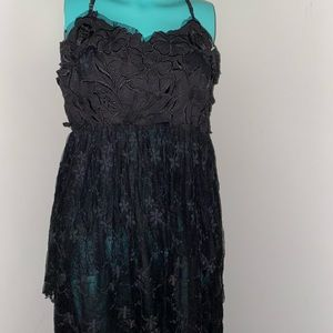Ark & Co Dresses - Ark & Co Black Lace Tiered Layered Lace Maxi Dress